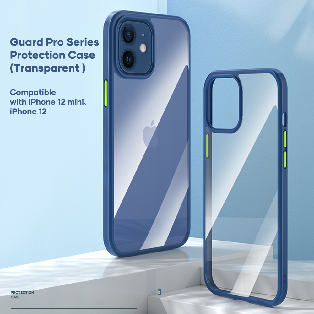 REGO Communication Sdn Bhd - Rock Space | iPhone 12 Mini/iPhone12/iPhone 12 Pro/iPhone 12 Pro Max Guard Pro Transparent (Anti Drop Case)