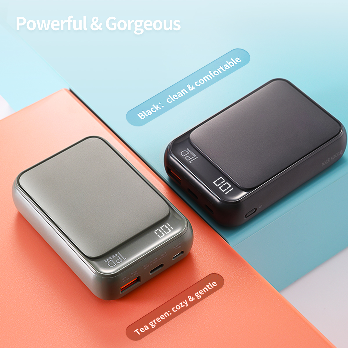 REGO Communication Sdn Bhd - Rock Space | rock space P65 Display PD Power Bank (10000mAh)