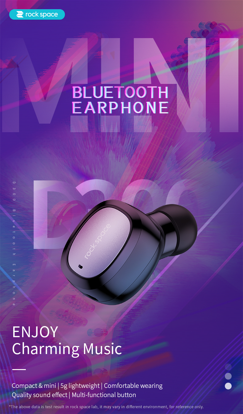 rock space D300 Bluetooth Earphone