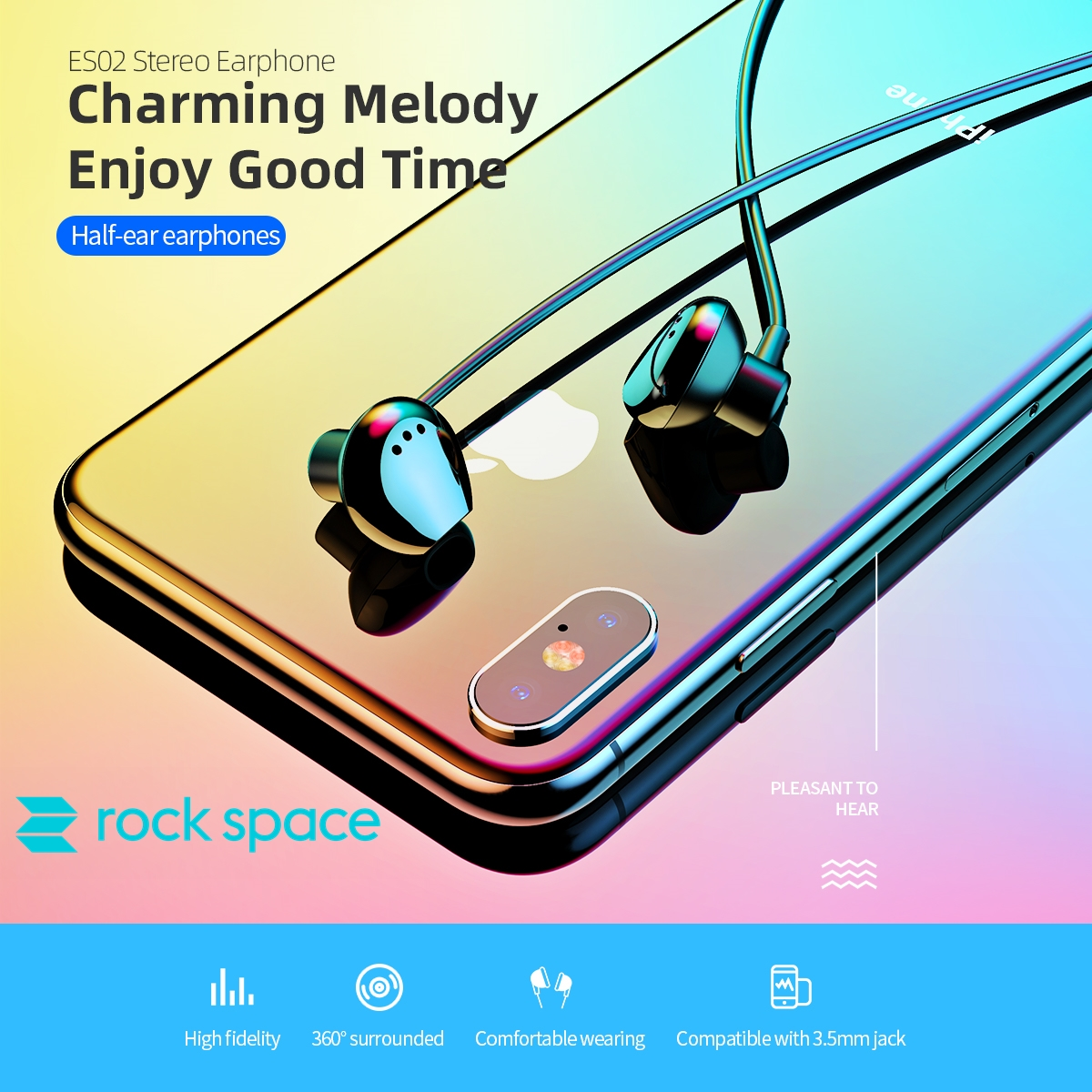 rock space ES02 Stereo Earphone