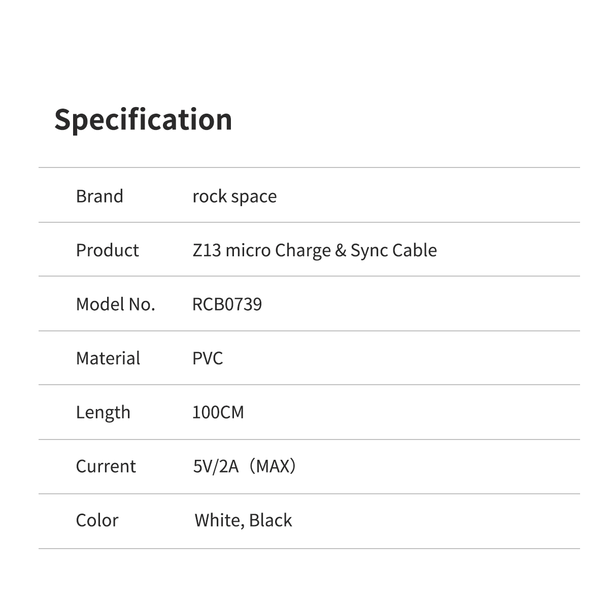 REGO Communication Sdn Bhd - Rock Space | rock space Z13 Micro Cable