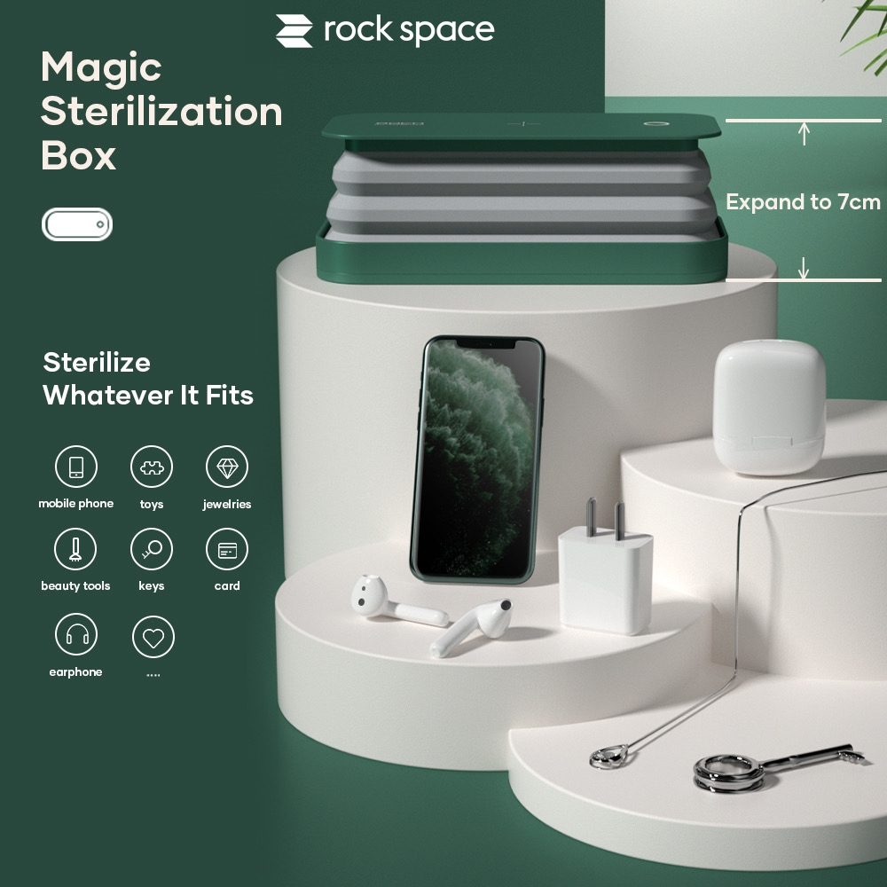 rock space Multi-function UVC LED Sterilizer (Wireless Charging)