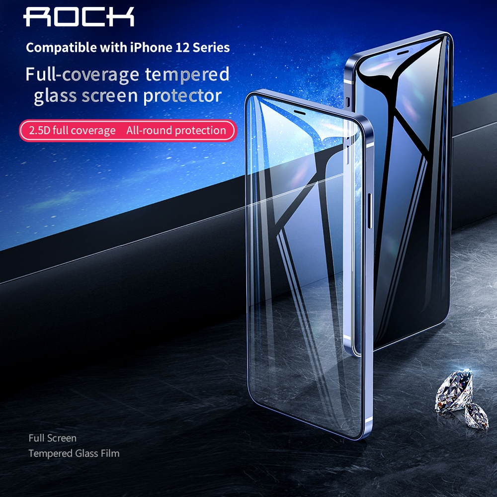 iPhone 12/iPhone 12 Pro/iPhone 12 Pro Max ROCK Tempered Glass Screen Protector
