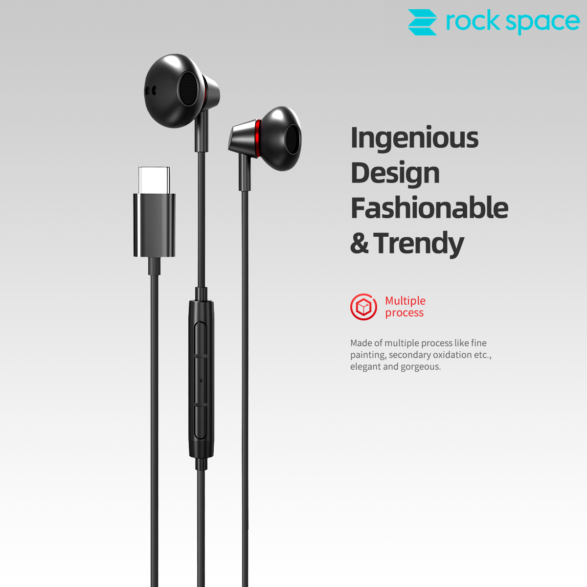 REGO Communication Sdn Bhd - Rock Space | rock space C1 Type C Earphone