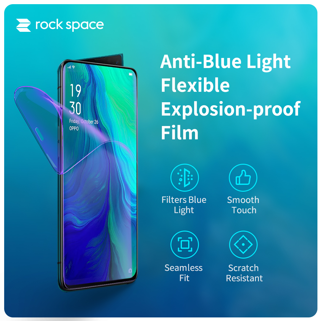 REGO Communication Sdn Bhd - Rock Space | rock space Screen Protector (Front, Anti Blu-ray)