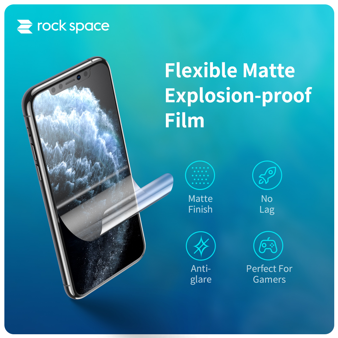 REGO Communication Sdn Bhd - Rock Space | rock space Screen Protector (Back, Matte Anti Fingerprint)
