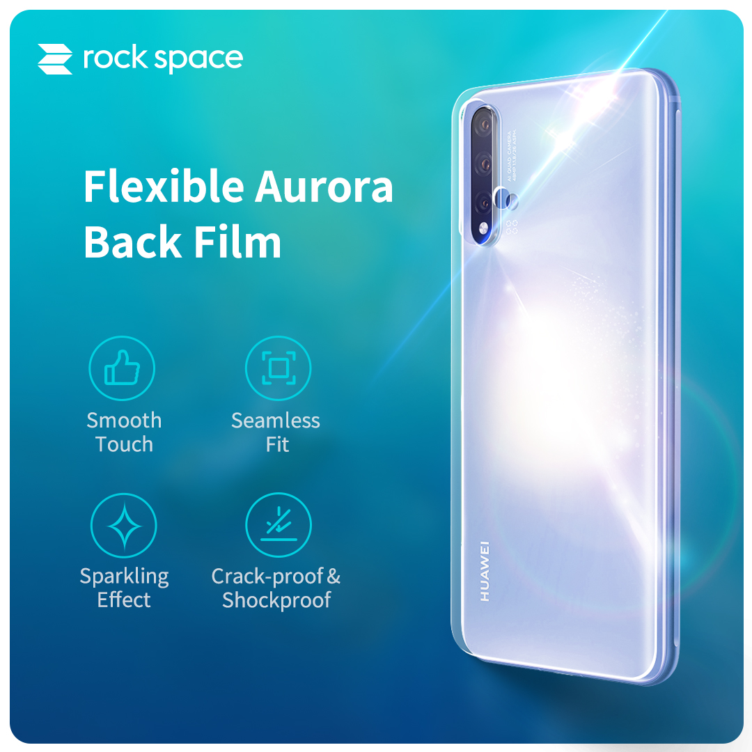 REGO Communication Sdn Bhd - Rock Space | rock space Screen Protector (Back, Aurora)